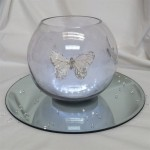 butterly and tulle fish bowl