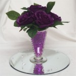 mini tapered vase with roses